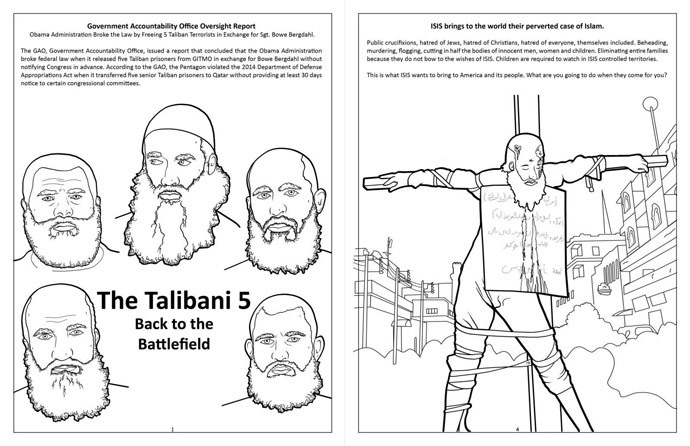 A page from one of Really Big Coloring Books' line of terrorism coloring books for kids. (Really Big Coloring Books)