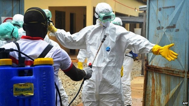 Some villagers in Guinea have been scared by the appearance of health workers trying to combat Ebola