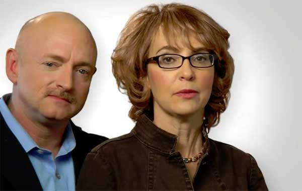 Puppet Gabby Giffords and Master Mark Kelly