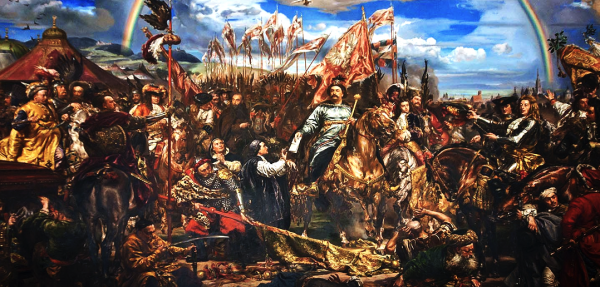 """""""Sobieski Sending Message of Victory to the Pope"""" by Jan Matejko, 1883. This painting depicts the victory of the Catholic forces at Vienna over the Ottoman Turks on September 12, 1683. It hangs in the Sobieski Room of the Vatican Museum.  Read more: http://www.ammoland.com/2014/09/fight-or-die-a-september-11th-perspective/#ixzz3D2R95ZnV  Under Creative Commons License: Attribution  Follow us: @Ammoland on Twitter   Ammoland on Facebook"""