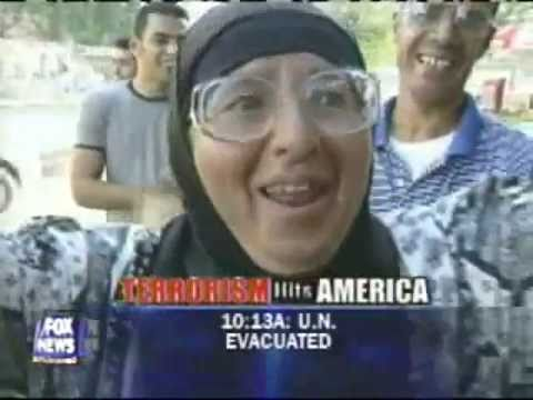 PALESTINIANS CELEBRATING 9/11. AND THEY WONDER WHY WE THINK THEY ARE SCUM.