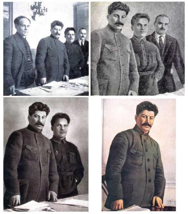 17. Joseph Stalin is one of the most brutal dictators the world has ever known. And while we all know he had no problem wiping people from existence, he apparently did it in his paintings as well. Whenever someone in a painting he was part of would be killed or disappear, he would have the painting retouched to cut them out.