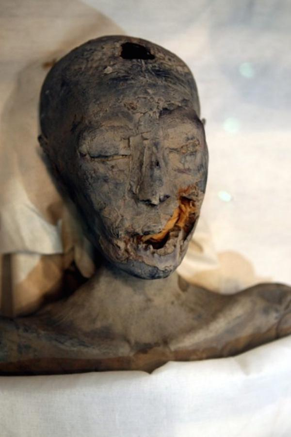 19. King Tut was the offspring of incestuous parents. This lovely young lady was not only King Tut's mother, but also the sister of his father, Akennaten.