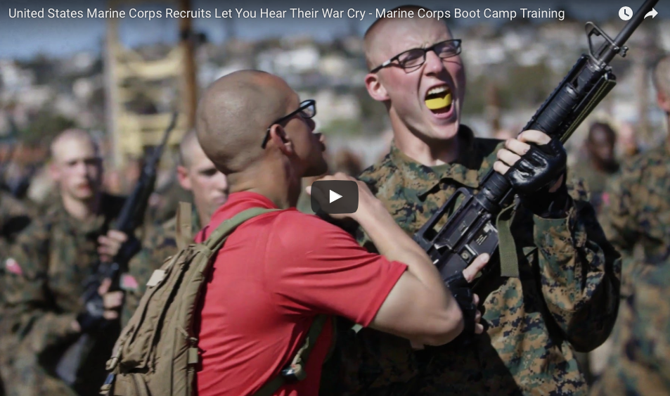 [WATCH] United States Marine Corps Recruits Let You Hear Their War Cry!
