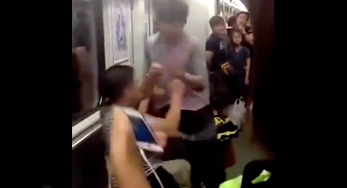 [WATCH] Subway Fight! Everybody Was Kung Fu Fighting (Well, Not Everybody...)