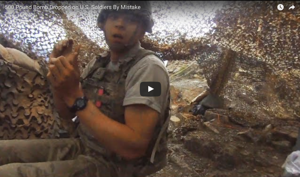 [WATCH] 500 Pound Bomb Dropped on U.S. Soldiers By Mistake