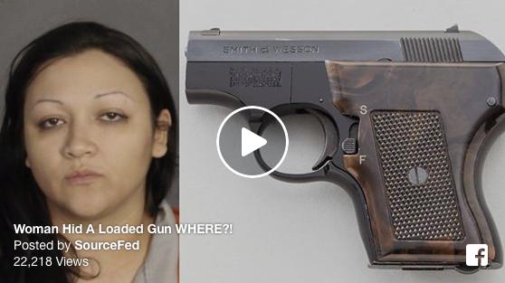 [VIDEO] Woman Hid A Loaded Gun WHERE?!