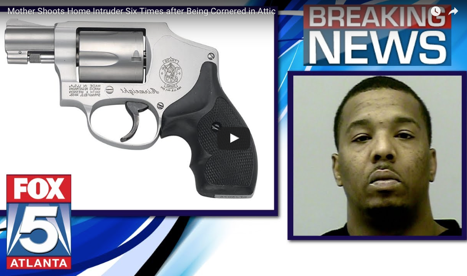 [VIDEO] Home Invader Finds Mom And Babies Hiding In Attic, Discovers Her .38 Revolver As Well