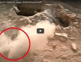 [WATCH] Sniper Misses U.S. Soldier By Inches – Soldier Brushes It Off