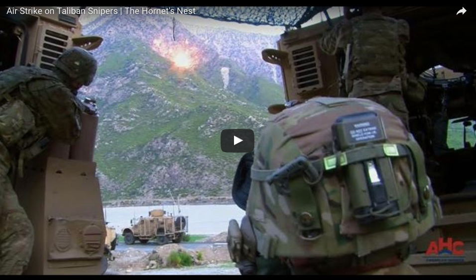 [VIDEO] Air Strike on Taliban Snipers | The Hornet's Nest