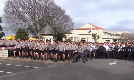 Students perform 'Haka Dance' at Teacher's Funeral