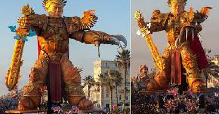 They Built A 65-Foot Tall Statue Of President Trump, And 600,000 People Came To See It