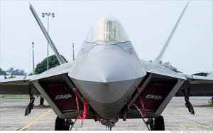 The F-22 Raptor costs about $62,000 an hour to fly, making it the most expensive manned aircraft to operate.