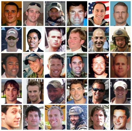 The many warriors who lost their lives, known as Extortion 17