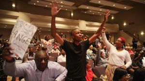 Ferguson City Council Holds First Meeting Since Police Shooting Death Of Michael Brown