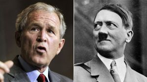 """An unidentified McKinley Middle School teacher sent students home with an assignment instructing them to compare and contrast Bush and Hitler as part of a unit on """"War and Peace,"""" according to a statement by district officials. (AP)"""