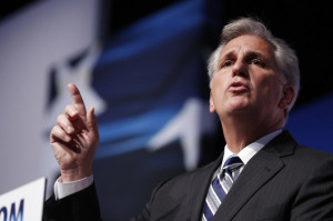 "U.S. House Majority Leader-elect Rep. Kevin McCarthy (R-CA) gestures on the second day of the 5th annual Faith & Freedom Coalition's ""Road to Majority"" Policy Conference in Washington, June 20, 2014. (Reuters/Larry Downing)"