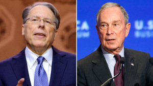 Executive Vice President and CEO of the National Rifle Assoc. Wayne LaPierre (L) and Former New York Mayor Michael Bloomberg (Reuters)