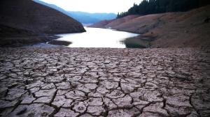 Getty Images Dry cracked earth is visible on the banks of Shasta Lake at Bailey Cove in Lakehead, Calif.