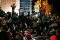 Protesters participate in a sit-in during a rally for Michael Brown outside the police department in Ferguson, Missouri, October 11, 2014.(Reuters / Jim Young)
