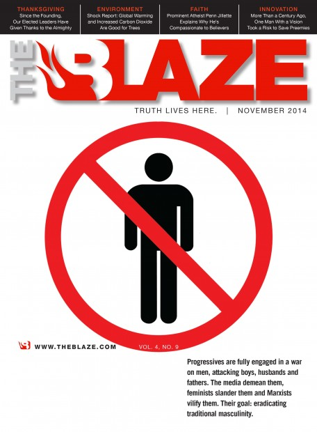 FINAL - War on Men - Blaze Magazine Cover - November 2014 - no box