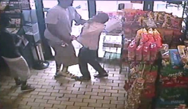 Surveillance video shows Michael Brown robbing a convenience store prior to his death.