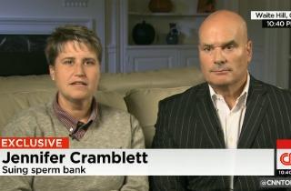 Jennifer Cramblett with her attorney, Timothy Misny