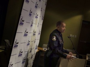 Detroit Police Chief James Craig talks Thursday, April 9, 2015, about the indictments against two Detroit Police officers accused of stealing from drug dealers. (Photo: Romain Blanquart, Detroit Free Press)