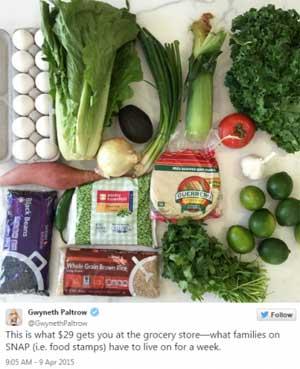 Gwyneth Paltrow's SNAP Purchase