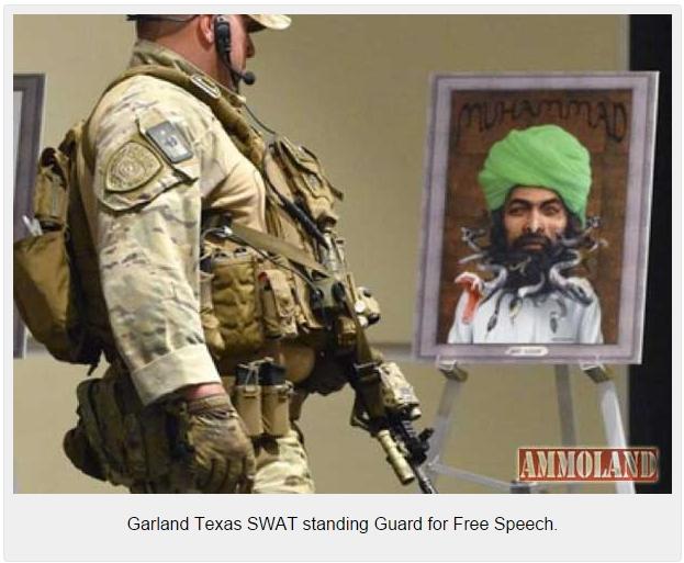 Garland-Texas-SWAT-standing-Guard-for-Free-Speech