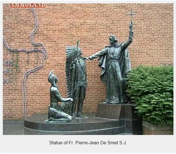 Statue-of-Fr.-Pierre-Jean-De-Smet-S.J.