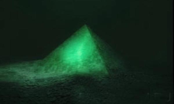 7. Scientists have been baffled by this one for a while. In 1990, scientists using sonar discovered two giant pyramids, both about 6,000 feet under the ocean. The pyramids are made of some sort of smooth glass, and are estimated to be even bigger than the pyramid of Cheops in Egypt. Super Creepy.
