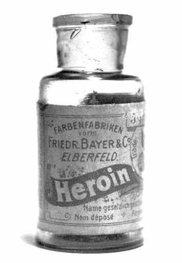 8. Knowing what we know now, this one is pretty bizarre. Between 1890 and 1910, Bayer's heroine was available in pretty much any drug store you could find. It was sold as a non-addictive substitute for Morphine. Oh, and it was also used to cure children's coughs…..