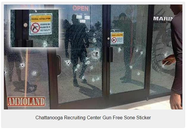 Chattanooga-Recruiting-Center-Gun-Free-Sone-Sticker