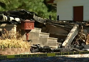 The fire completely destroyed Carol Ann and Laura Stutte's home in Venore, Tenn., in September 2010.