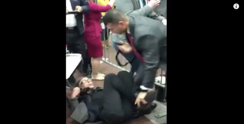 [WATCH] Total Chaos At Trump Rally - A Reporter Is Allegedly 'Choke Slammed' by Security