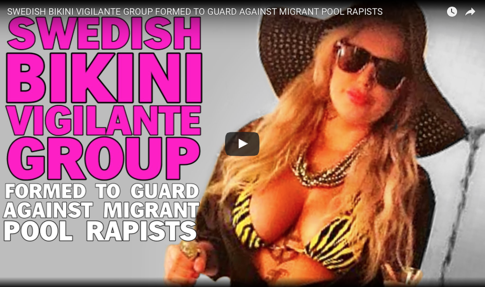 [WATCH] Hot Bikini-clad Women Form Vigilante Group To Stop Migrants From Sexually Abusing Women At Pools