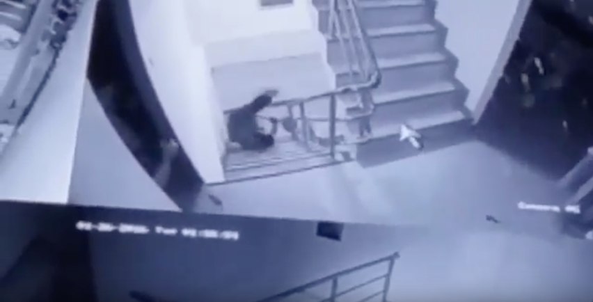 [WATCH] Robber Terrorizes Store Owner's Family From The Store To The Stairwell, Then They Find Their Gun
