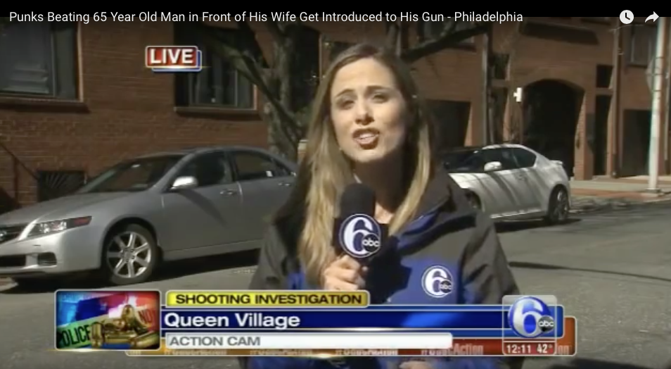 [VIDEO] Punks Beat 65 Year-Old-Man And His Wife, Get Introduced To His Gun