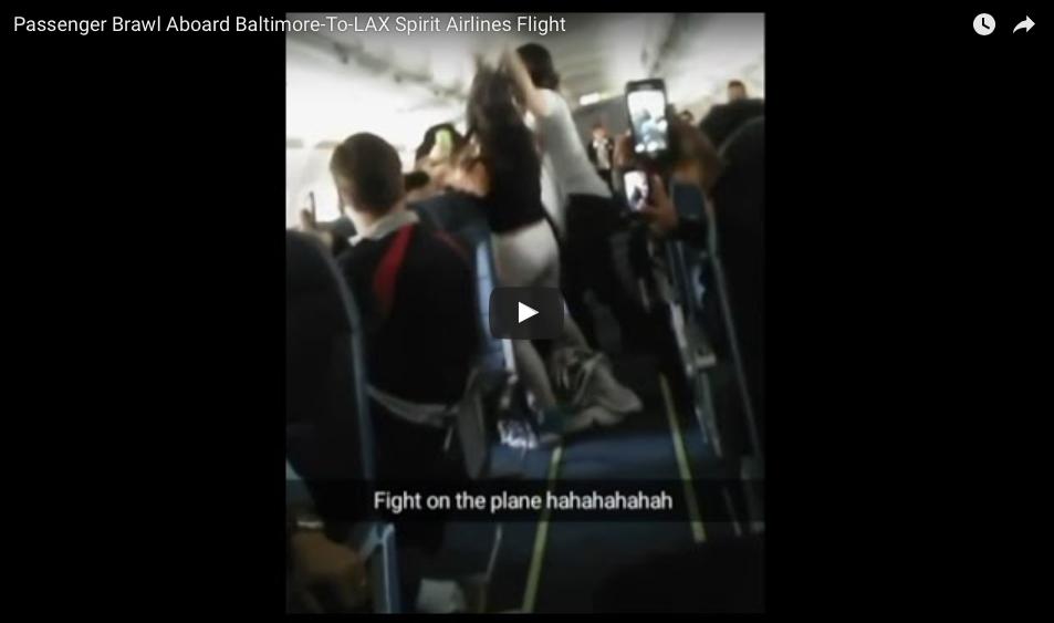 [WATCH] Mid-Air Drunken Girl Fight Aboard Spirit Airlines Flight