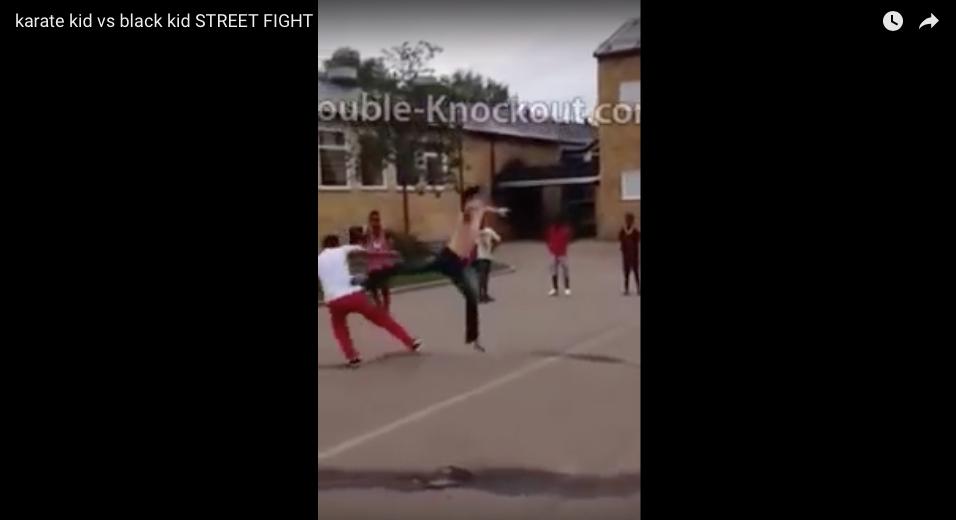 [WATCH] Karate Kid Vs. Black Kid - STREETFIGHT!