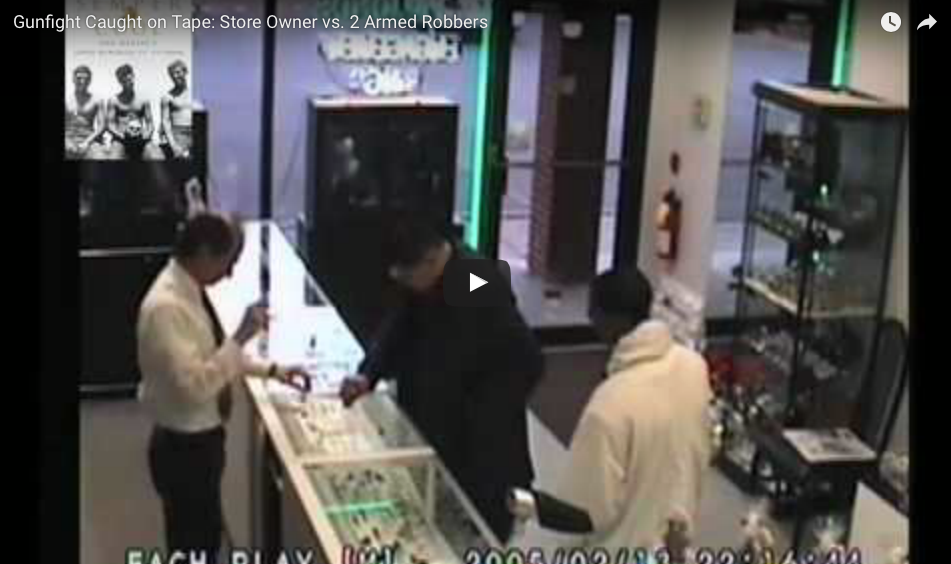 [WATCH] Two Armed Robbers Do Not Know That Store Owner Is A Marine!