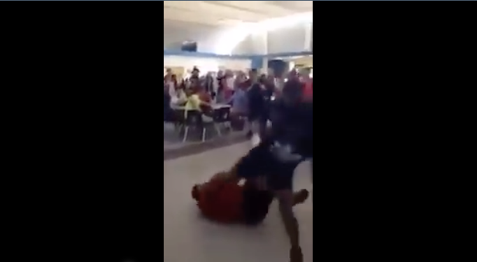 [WATCH] Down And Out School Kid Defends Himself Then Stands Up With A Slam