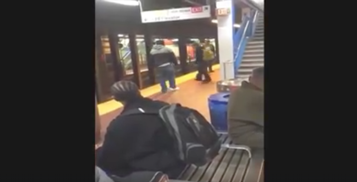 [VIDEO] Did This Subway Trash-Talker Deserve The SMACKDOWN He Got? You Decide: