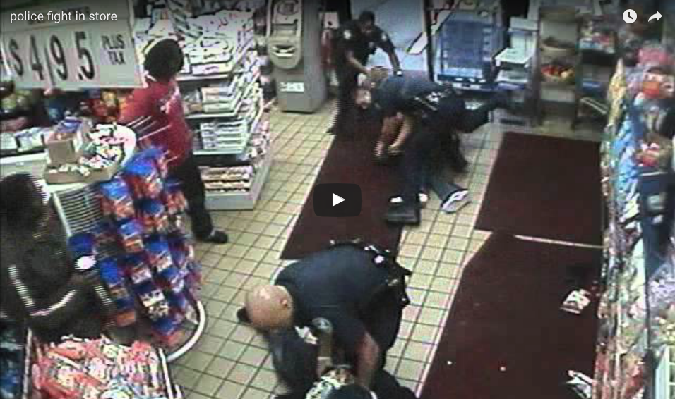 [VIDEO] Thugs Start A Store Fight With Police - It Becomes a Massive Free-For-All!
