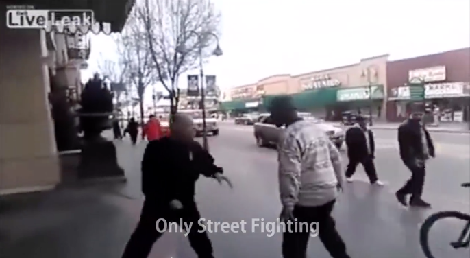 [WATCH] Small Dude Goes All 'Muhammad Ali' On HUGE Drunk Bully