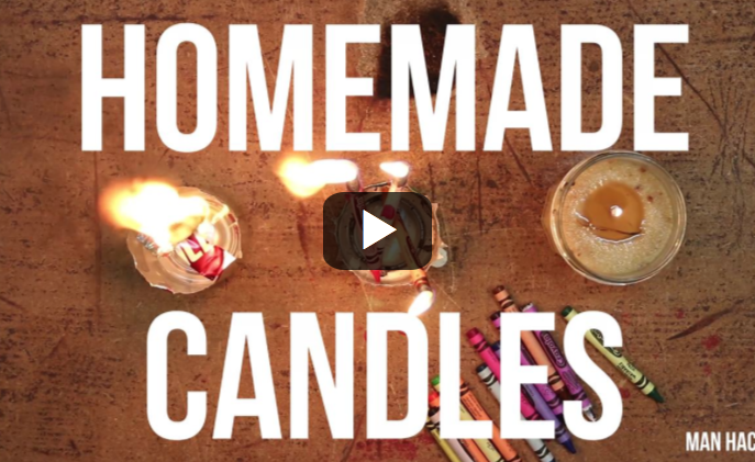 Man Hacks - How To Make Homemade Candles When The Power Goes Out