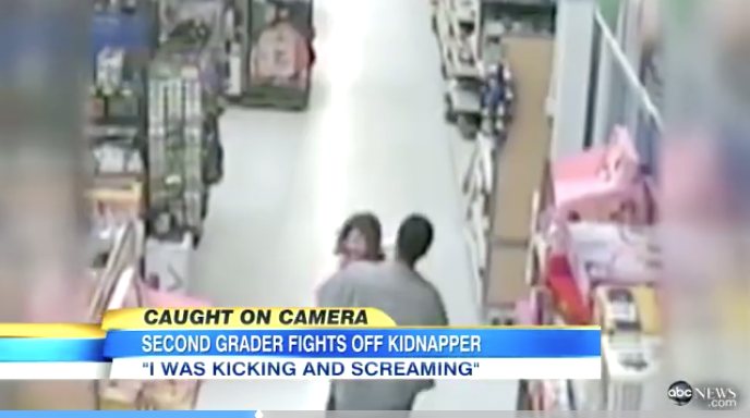 [WATCH] Little Girl Escapes From Sick Kidnapper In Walmart With Genius Tactics