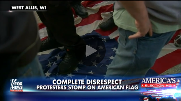 [WATCH] Anti-Trump Protesters Stomp On The American Flag, Unaware Of Monster Repercussions
