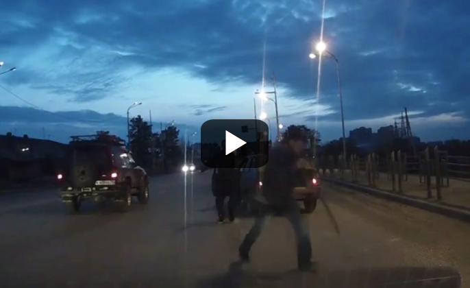 [VIDEO] Ever See A Road Rage Attacker Shot With A Rubber Bullet? Me Neither, Until Now!